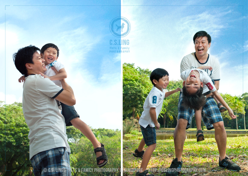 Singapore Family Portraits & Pets Photography at East Coast Park - C.S.Ling Photography